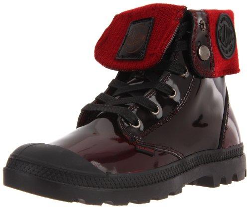 Palladium BAGGY LEATHER KNIT 92755-616-M Damen Stiefel Rot (MIDNIGHT RED)