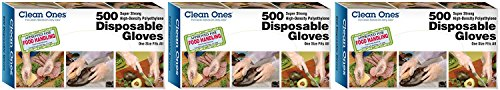 Clean ones Disposable Gloves (1500 Count) by Clean Ones