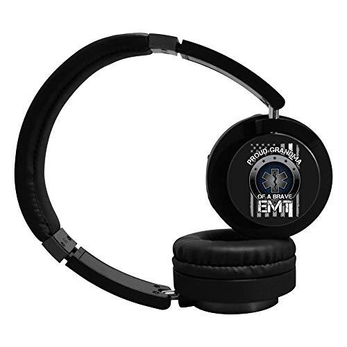 MagicQ New Proud Grandma of A Brave EMT Bluetooth Headphones,Hi-Fi Stereo Earphones Headset. (Bravo Earphones Headphones)