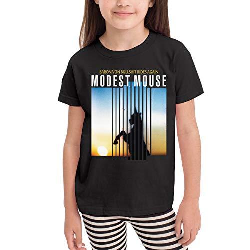 NancyA Modest Mouse Baron Von Bullshit Rides Again Child's T-Shirts for Girls & Boys Black 2T (The Best Mouse Room Modest)