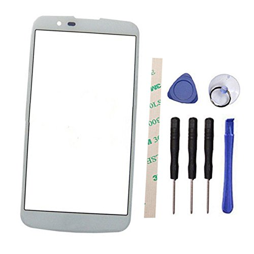 (Outer Screen Front Glass Lens Replacement for LG K7 K330 MS330 LS670 LS675 (Not LCD and Not digitizer) (White))