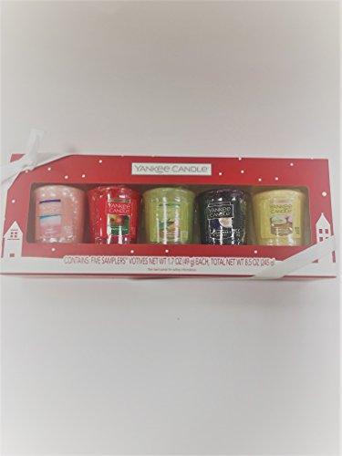 Yankee candle votive gift set of 5 votives One of Pink sands Macintosh sage & citrus Midsummers Night Vanilla (Cupcake Votive Candles)