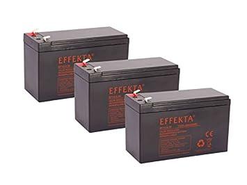 Batería compatible para bicicletas eléctricas draisin Scooter Crosser Tandem 36 V, 3 x 12 V 9,5 Ah