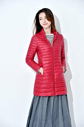 Rouge Hiver Chaud Doudoune Ahatech Montant Col Manteau nbsp;veste Légère Femme 8qvwvEzt