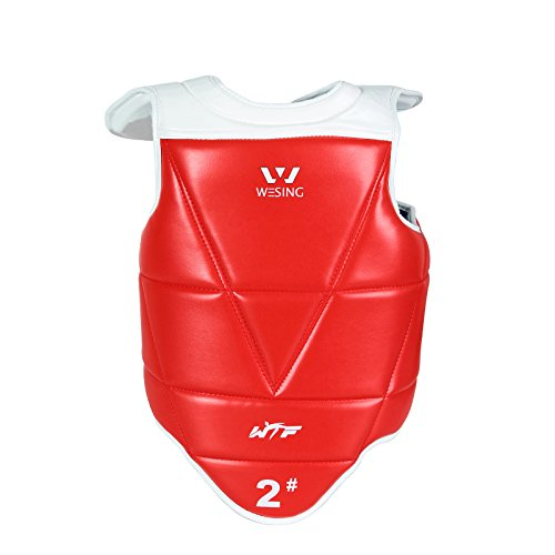 wesing Taekwondo WTF Approved Sparring Competition Chest Protector By 5#(158.4lb~171.6lb) ()