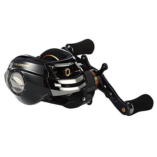 Isafish Baitcaster Reels Left/Right Handed Baitcasting Reel 17+1 Ball Bearings EVA Knob Saltwater/Freshwater Fishing Bait Casting Reel 7.0:1