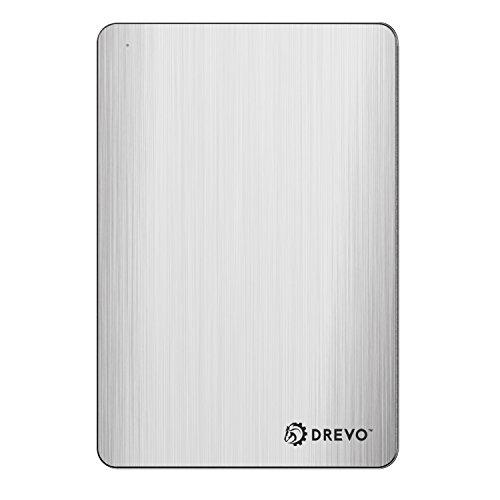320 Gb Internal Usb (DREVO P1 Lite 500GB Portable External Hard Drive USB 3.0 UASP Support Slim Aluminium Storage Device for Laptop/PC/MAC/PS4, Silver)