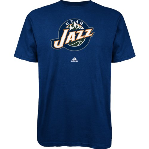 (Utah Jazz adidas Primary Logo T-Shirt - Navy)