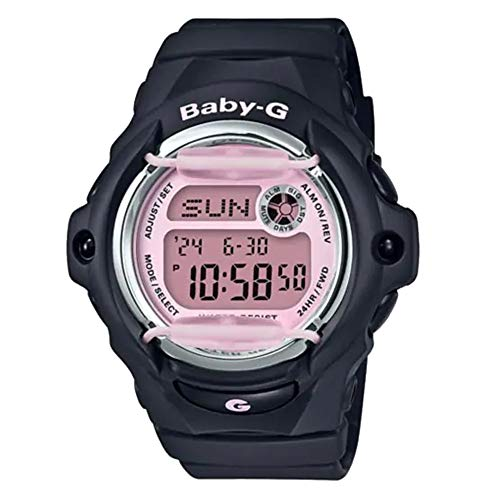 G-Shock Women's Baby-G Digital Watch, Black/Pink (BLKPNK/1), One Size ()