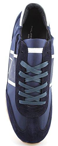 Modello Philippe Herren Schuhe Sneaker Parigi Toujours Basic Bleu Nuovo Made In Italy