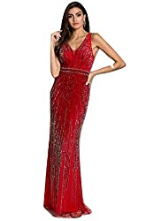 Sleek Sparkling Beaded Gown