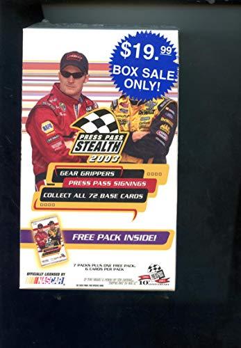 2003 Press Pass Stealth Race Racing Car NASCAR Trading Card Set Wax Pack ()