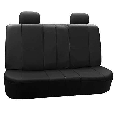 FH-PU007012 Deluxe Leatherette Bench Seat Covers, 40/60, 60/40, 50/50 and 40/20/40 split, Black color
