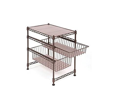 Amazon.com - Seville Classics Stackable Cabinet Organizer, Bronze -