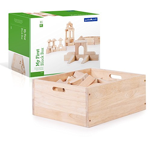 Guidecraft My First Block Box, 62 Piece Unit Block Set - Kids STEM Learning Educational Toys ()