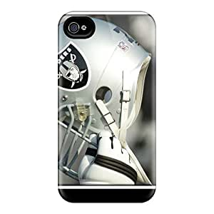 Tpu Case Cover For Iphone 4/4s Strong Protect Case - Oakland Raiders Design