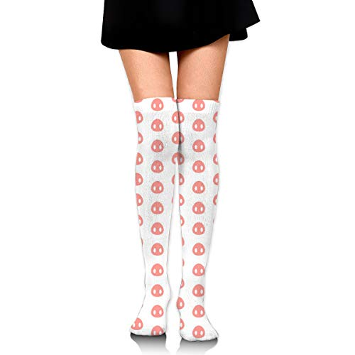 Guoxichangtuiwa Seamless Pattern with Pig Heels Women's Girl's Breathable Cotton Comfortable Fashion Over The Knee High Leg Athletic Thigh Highs Socks,Cosplay Socks