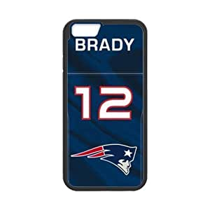 New England Patriots Cell Phone Hard Case for iPhone 6(4.7) Plastic and TPU (Laser Technology)