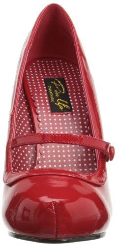 Pleaser EU-CUTIEPIE-02 - Zapatos de tacón de material sintético mujer rojo - Rot (Red pat)