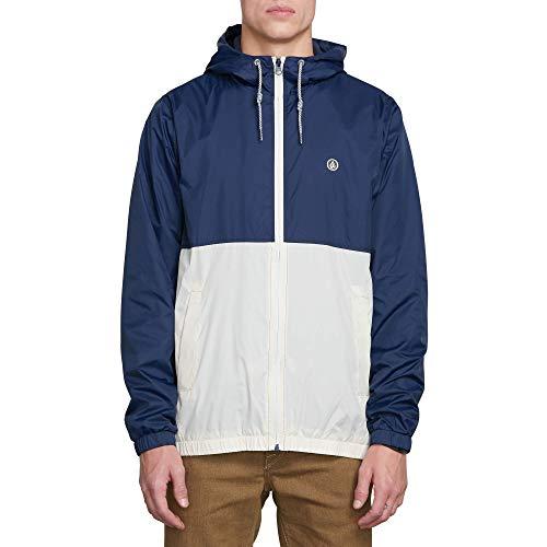 Volcom Men's Volco Ermont Hooded Windbreaker Jacket, MELINDIGO, Large (New Snowboarding Jackets)