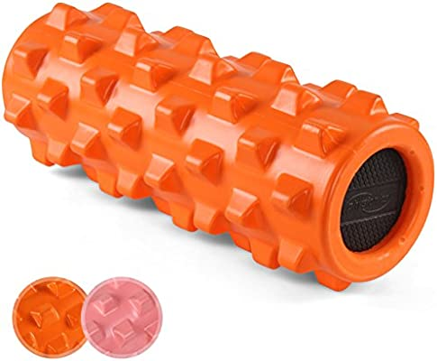 Jago Rollo de masaje de espuma para yoga pilates fitness 31,5 x 13 cm (color a elegir), naranja: Amazon.es: Deportes y aire libre