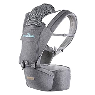 Baby Carrier, Eccomum Forward Back Facing Baby Carrier, Ergonomic Baby Carrier with Hip Seat for 3-36 Month Baby, 6-in-1… 7