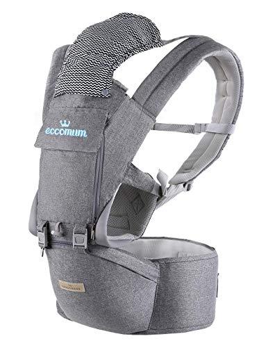 Baby Carrier, Eccomum Baby Draagzak voor 3-36 Maanden en Baby's tot 18.6kg, Verstelbare Babydrager Geschikt voor Reizen
