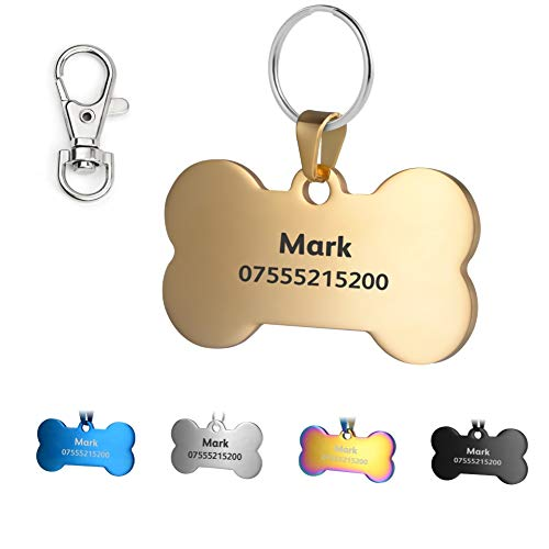 Blu, Cuore Anteriore e Posteriore Engraving Etichette e del Cane Gatto Etichette Personalizzato KSZ in Acciaio Inox Pet ID Etichette Vari Colori