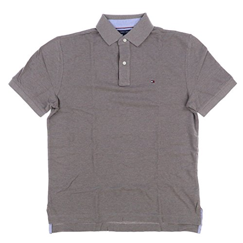 Tommy Hilfiger Mens Mesh Classic Fit Polo Shirt (Medium, Light Brown)
