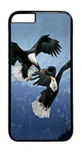 Two Eagles Animal PC Case Cover for iphone 6 Plus 5.5inch - Black