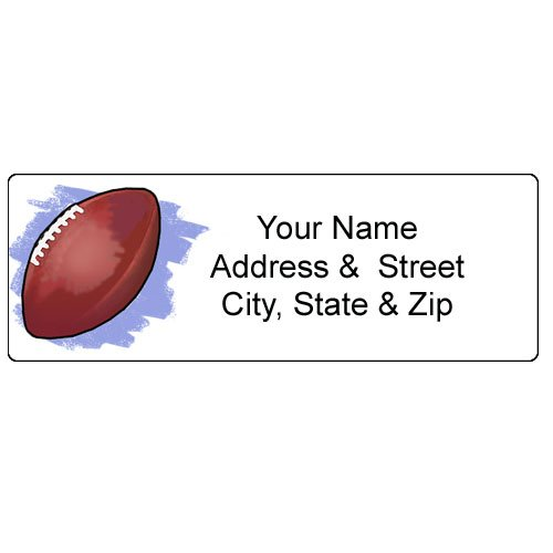 Football Address Label - Customized Return Address Label - 90 Labels