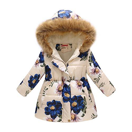 Meisje Winterjas Naar Beneden Nepbontkraag Capuchon Warme Winddichte Sneeuwjas Voor Casual School