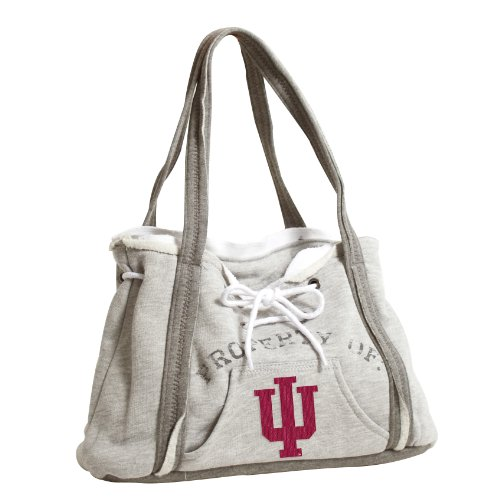 LittlEarth NCAA - Cartera con Capucha, 150404-WVU-GREY, West Virginia Mountaineers, Gris Indiana Hoosiers