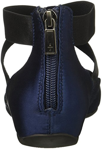 Ankle time US Pro 5 Elastic Women's M Flat Kenneth Satin REACTION Navy Cole Strap Zip with Ballet Back 5 qxwtzAI
