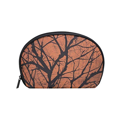 LORVIES Halloween Creepy Tree Cosmetic Pouch Clutch Makeup Bag Travel Organizer Case Toiletry Pouch for Women