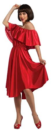 Saturday Night Fever Dance Dress, Red, Small Costume