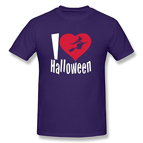Happy Halloween Short Sleeve Male Tshirt Purple Size XL Novelty By Rahk (Halloween Costumes Seattle)