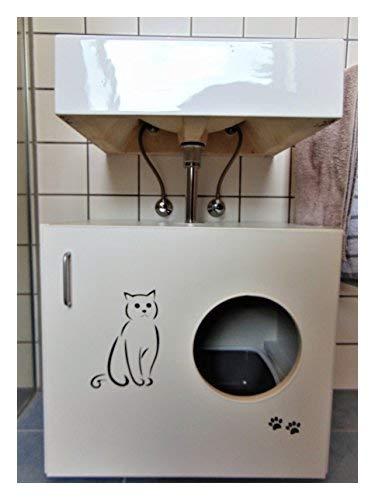 Hermes Muebles gato Armario Feline (WC felsa) B/T/H 60 x 41 ...
