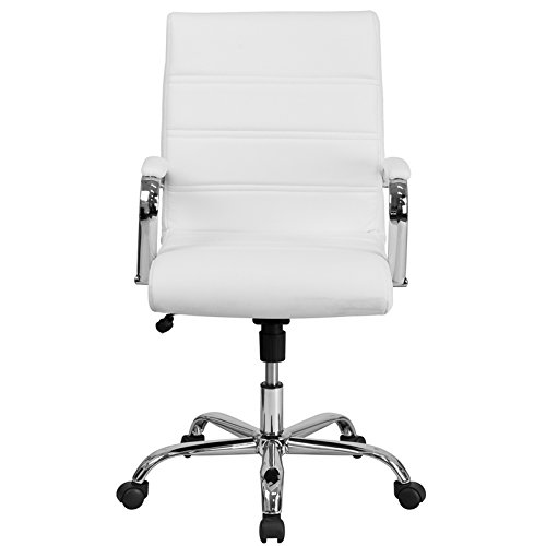 Kenwood LE Mid-Back Leather Executive Swivel Office Chair with Chrome Base and Arms by Kenwood Furnishings (Image #3)
