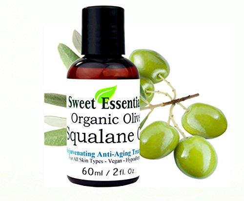 100% Pure Organic Squalane Oil - 2oz - Imported From Italy - Olive Derived - Vegan Anti Aging - Skin Regenerating  - Non Greasy - Doesnt Feel Like The Traditional Oil
