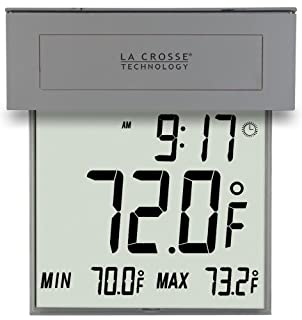 La Crosse Technology 306-605 Solar Window Outdoor Thermometer (Silver) (B003LZ469M) | Amazon price tracker / tracking, Amazon price history charts, Amazon price watches, Amazon price drop alerts
