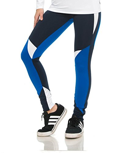 Undercover Activewear Ladies Blue Colorblock Leggings S