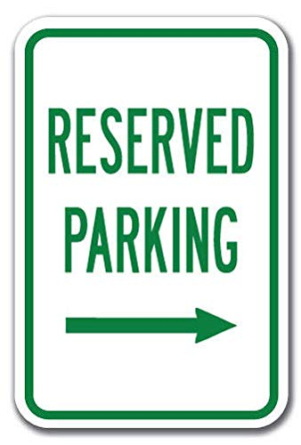(Reserved Parking with Right Arrow Sign Label Decal Sticker 8