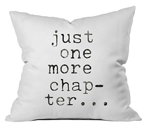 Oh, Susannah Just One More Chapter Throw Pillow Cover - Inspiring Pillowcase (1 18x18 inch, White)
