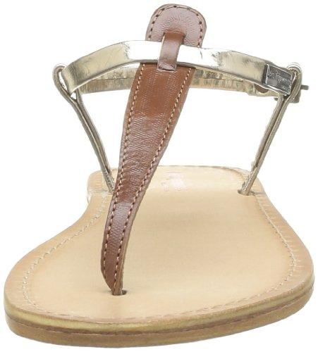 Les Tropéziennes - Sandalias de cuero para mujer Marrón (Braun - Marron (Tan Or))