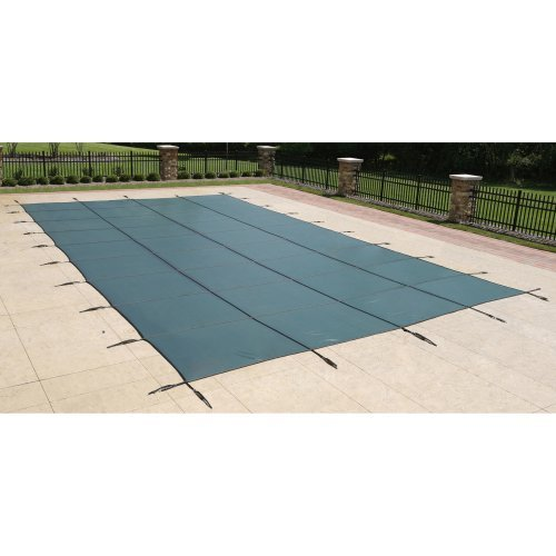 (Blue Wave 20-ft x 40-ft Rectangular In Ground Pool Safety Cover - Green)