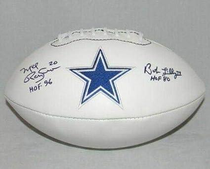 Bob Lilly Mel Renfro Autographed Signed Dallas Cowboys Logo Football Gtsm -  GTSM Certified - Autographed 748cf0a0c