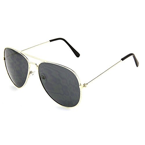 Dark Aviator Sunglasses - - Costume Sunglasses