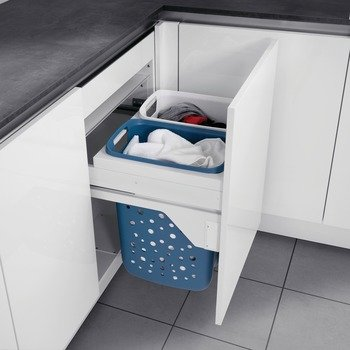 Hafele Laundry Hamper - Hafele Laundry Hamper Hailo 60 with Full Extension, for Cabinet Depth 17 5/8