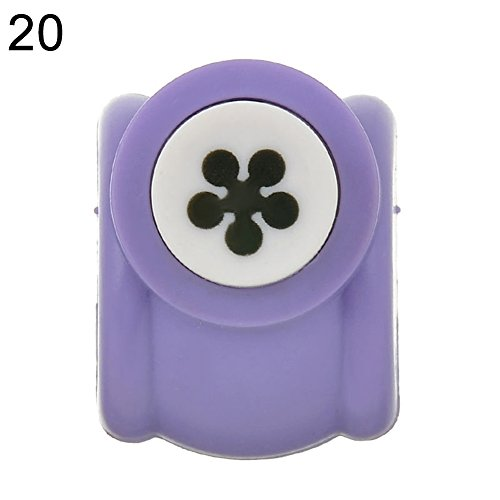 Angel3292 Handmade Cutter Photo Albums DIY Paper Hole Puncher Flowers Embossed Machine (Plum Blossom)